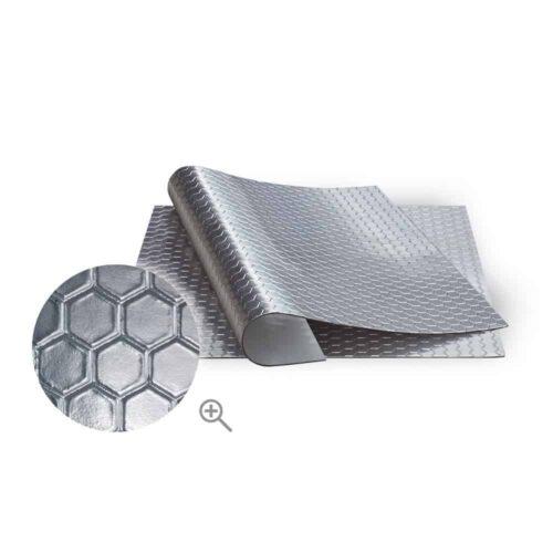 BOLL Samoprzylepna mata głusząca aluminiowa plaster miodu 25cm x 50cm