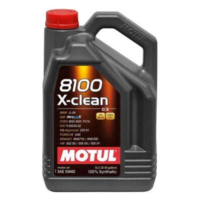 Motul 8100 5W40 X-CLEAN C3 5L Olej Silnikowy