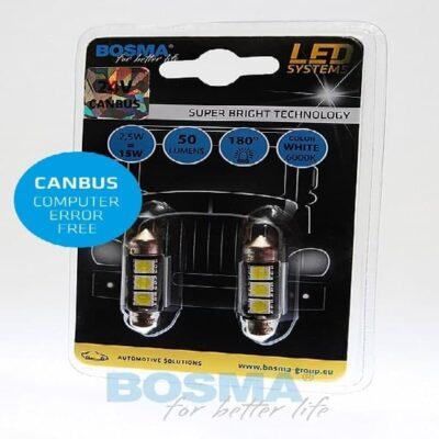Żarówka BOSMA biała 24V 3xSMD SV8,5 13x36 CANBUS 2szt.