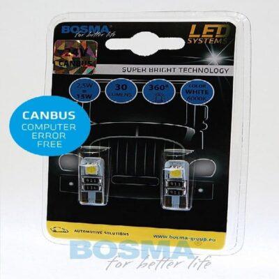 BOSMA 24V 2xSMD T10 CANBUS WHITE 2szt.