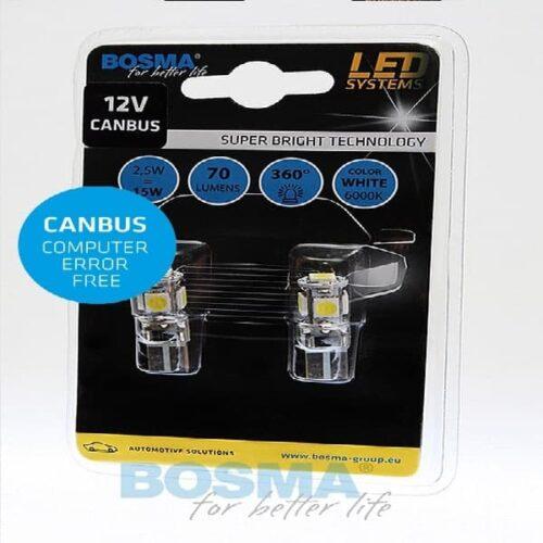 BOSMA 12V 5xSMD T10 CANBUS WHITE 2szt.