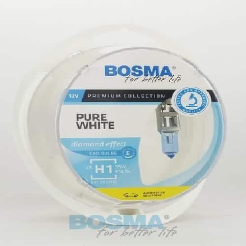 BOSMA 12V H1 55W PURE WHITE 8900