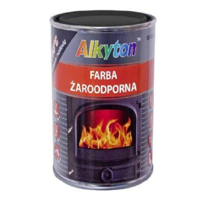 FARBA żaroodporna ALKYTON 250ml DO 750°C czarna