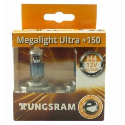 TUNGSRAM Megalight Ultra +150% Halogen – Żarówki H4 12V 60/55W P43 komplet