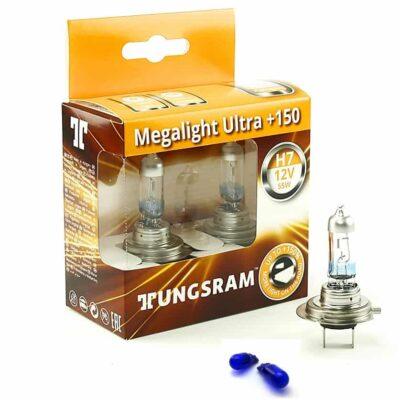 TUNGSRAM Megalight Ultra +150% Halogen - Żarówki H7 12V 60/55W P43 komplet