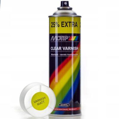 Lakier akrylowy bezbarwny matowy mat MOTIP 500ml